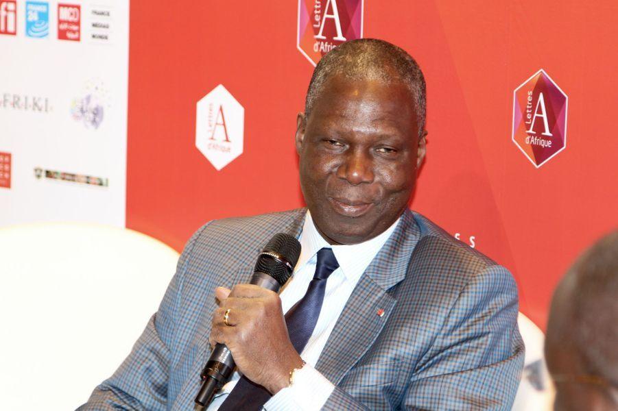 Maurice Kouakou Bandaman, Ministre de la Culture et de la Francophonie de la Côte d'Ivoire. Président du Pavillon des Lettres d'Afrique.