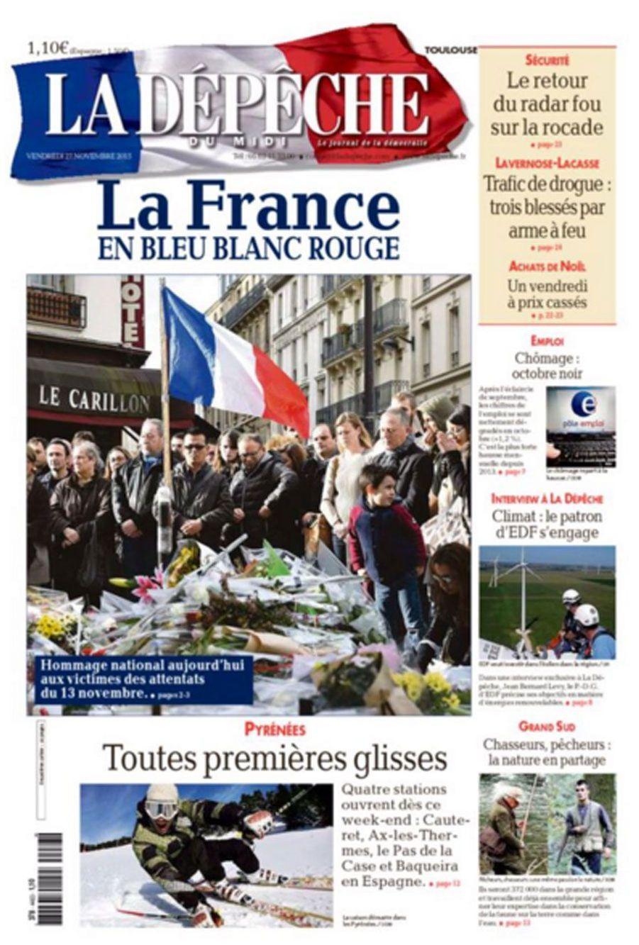 A la Une de la presse, des noms et des drapeaux