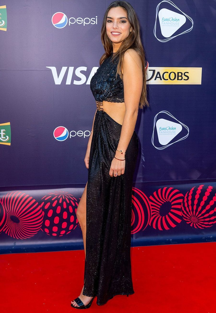 Alma lors de la cérémonie d'ouverture de l'Eurovision 2017 à Kiev dimanche