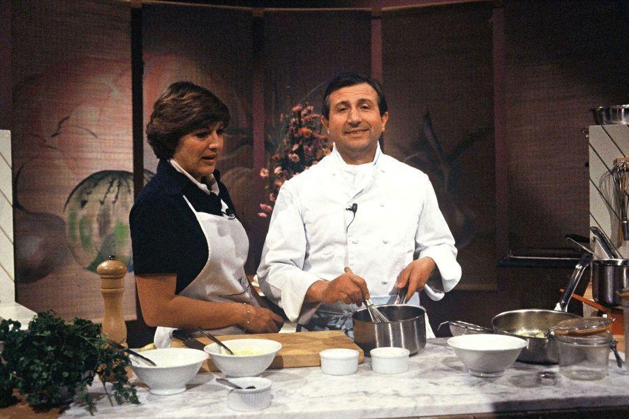 Anne-Marie Peysson et Michel Guerard en 1980
