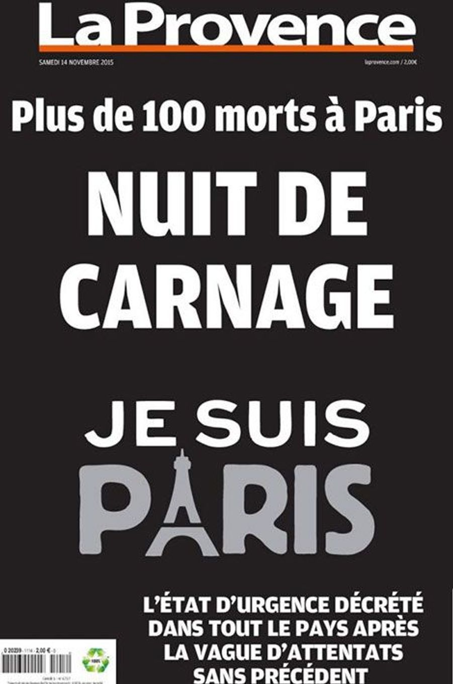 """""""L'horreur"""" en Une de la presse française"""