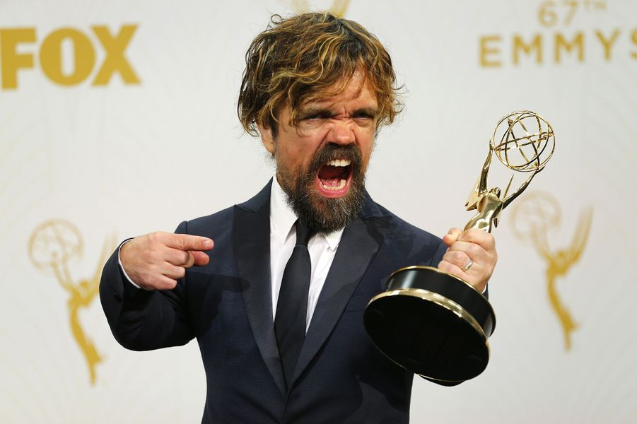 "Peter Dinklage (""Game of Thrones"") à la cérémonie des Emmy Awards, le 20 septembre 2015"