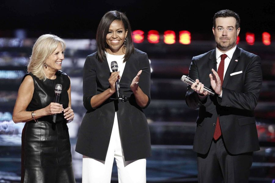 "Michelle Obama sur le plateau de ""The Voice"""