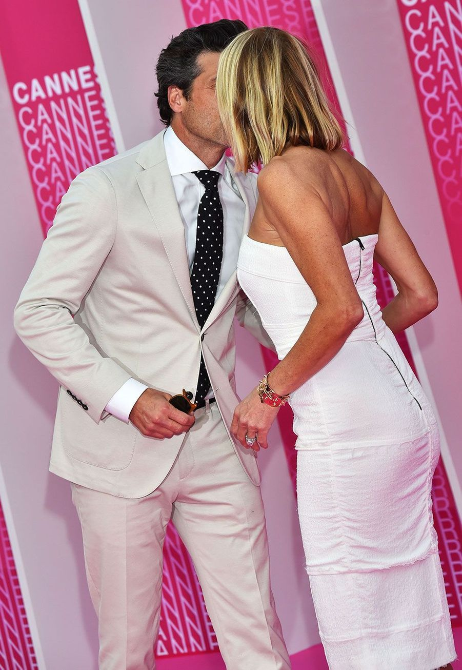 Patrick Dempsey et sa femme Jillian Fink au festival Canneseries samedi