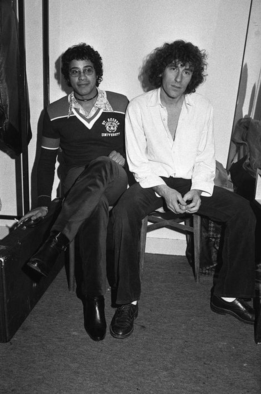 Alain Souchon et Laurent Voulzy à Paris en décembre 1977