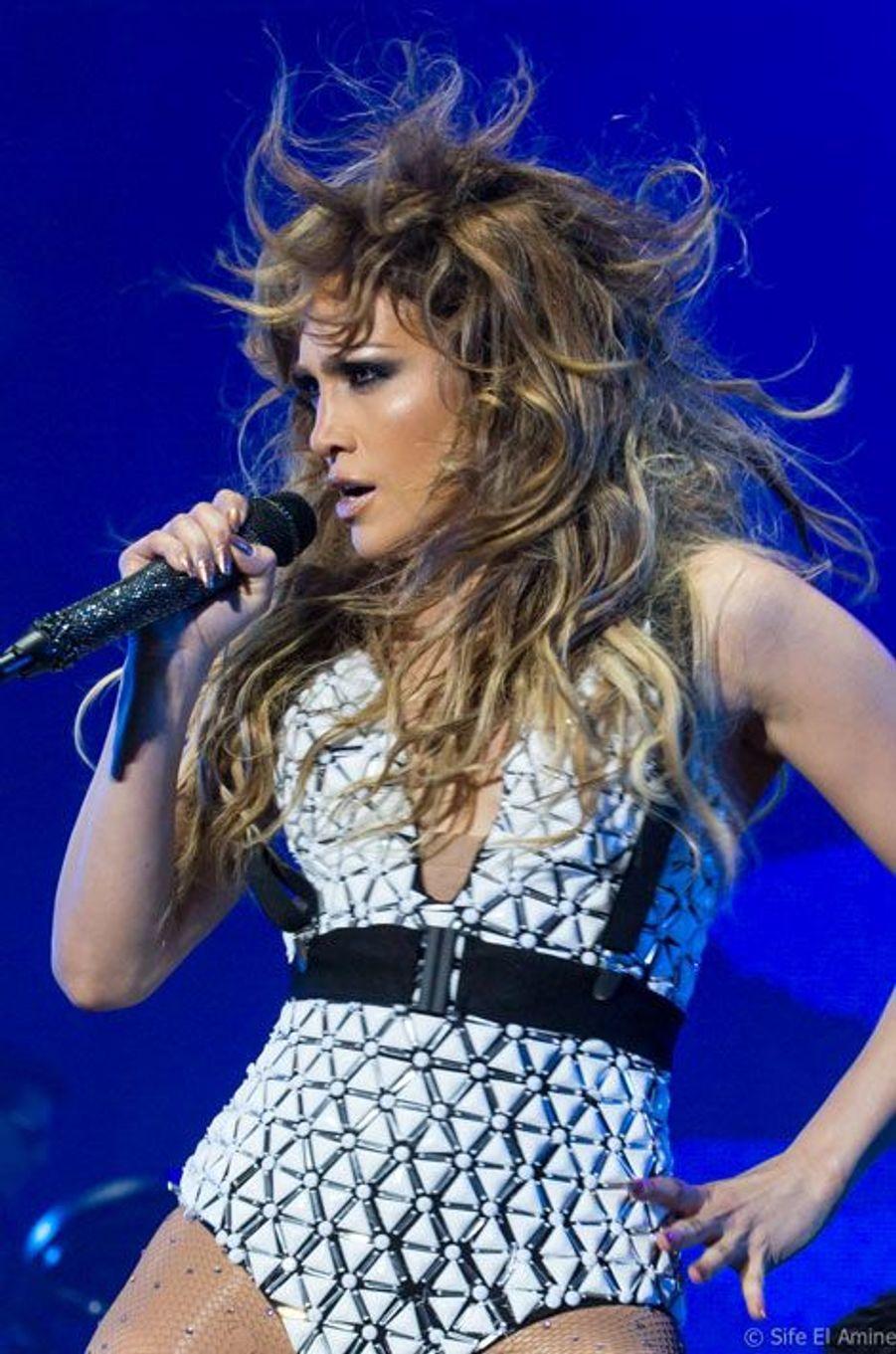 Jennifer Lopez sur la scène du festival Mawazine