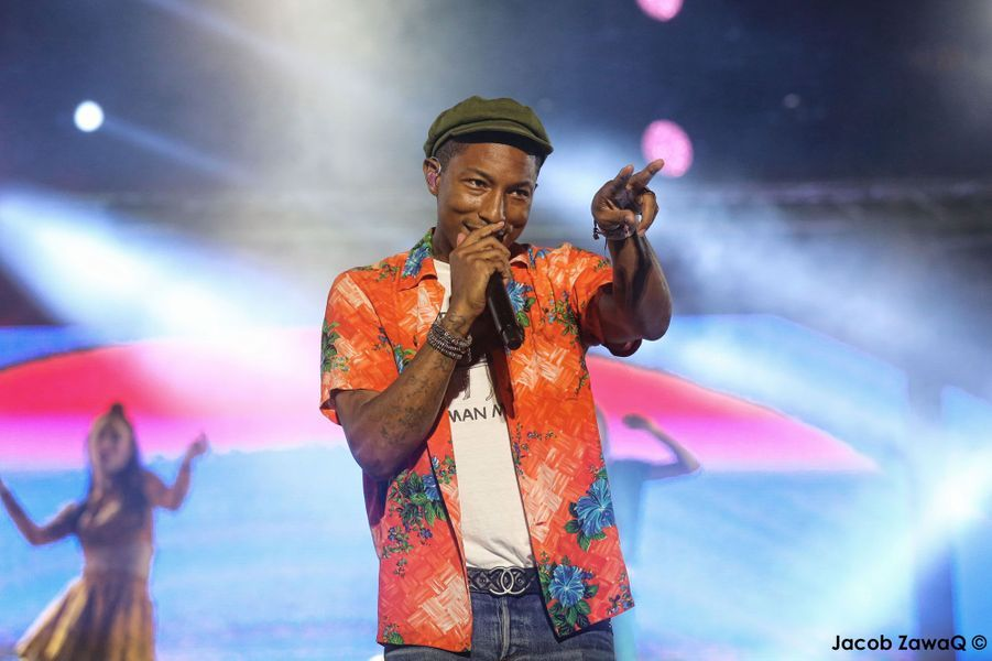 Pharrell Williams sur la scène du festival Mawazine