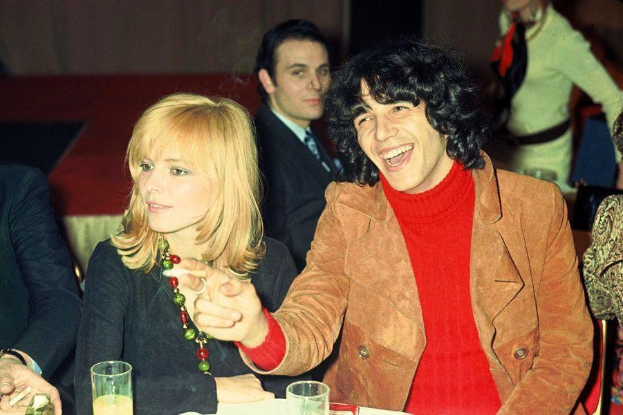 France Gall et Julien Clerc en 1970.