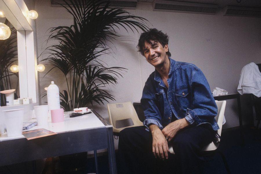 Rendez-vous avec Jacques Higelin en répétition de son spectacle au Palais omnisports de Paris-Bercy, en septembre 1985.