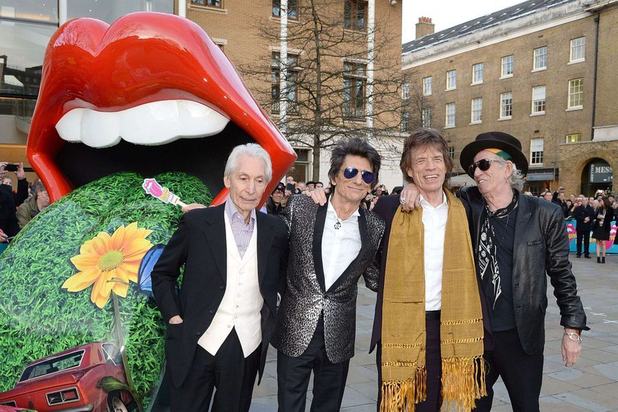 Charlie Watts, Ronnie Wood, Sir Mick Jagger et Keith Richards