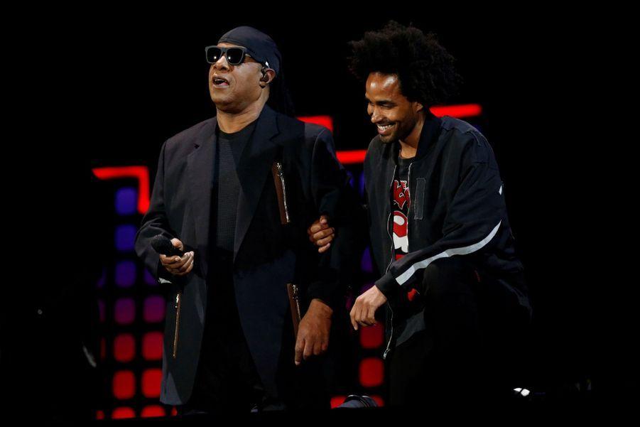 Stevie Wonder S'agenouille Durant Un Concert Contre La Pauvreté  1