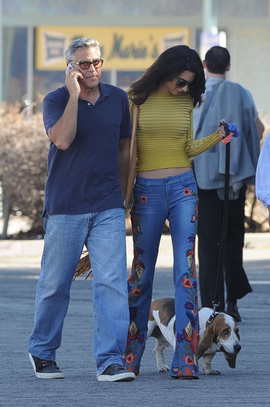 Amal et George Clooney à Los Angeles, le 20 octobre 2016.