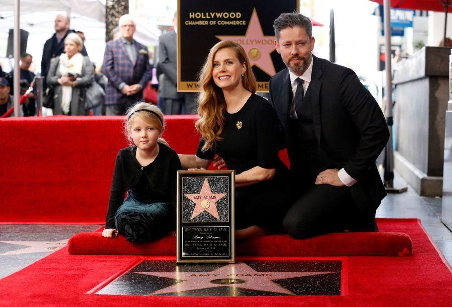 Pose en famille pour Amy Adams.