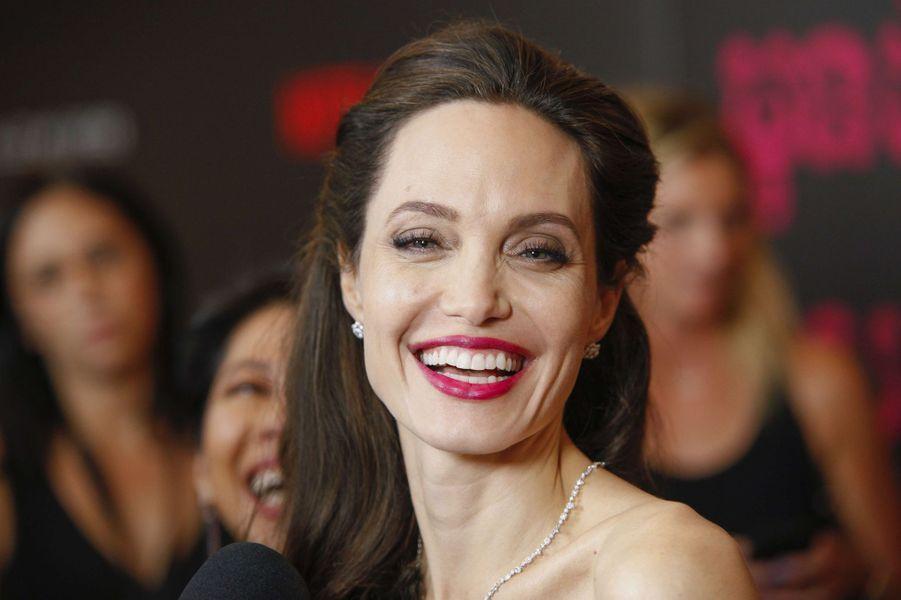 """Angelina Jolie à l'avant-première de """"First They Killed My Father"""" à New York, le 14 septembre 2017."""