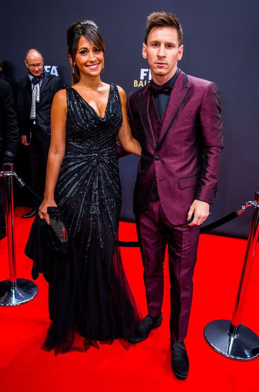 Lionel Messi et Antonella Roccuzzo en 2015
