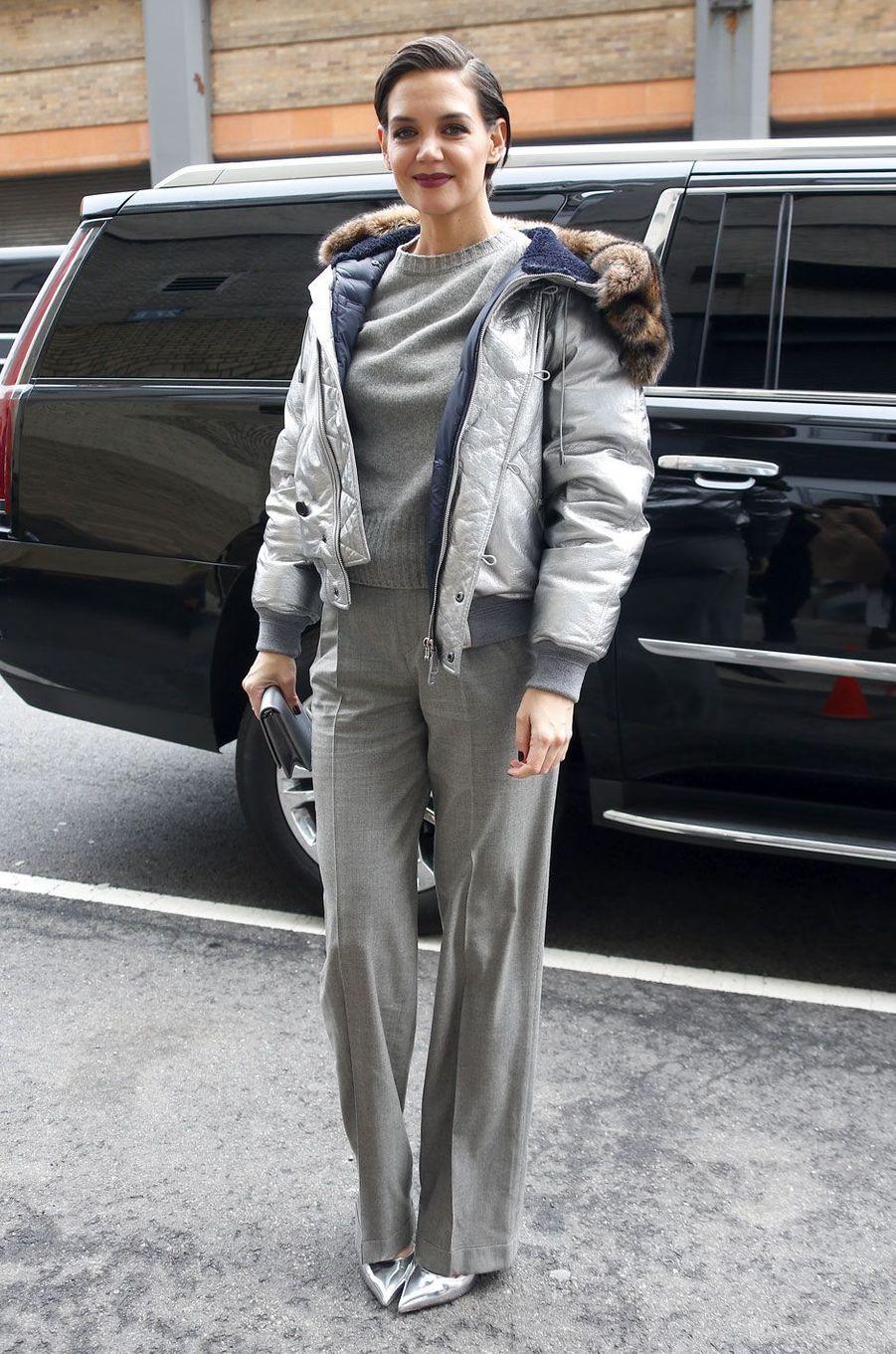 Katie Holmes au défilé Ralph Lauren, le 12 février