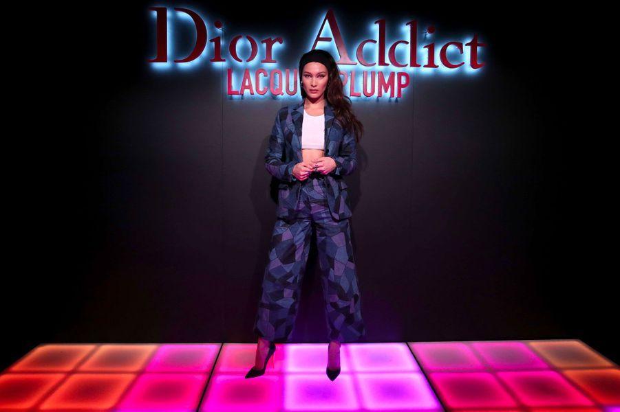 Bella Hadid à la soirée Dior Addict à Los Angeles, le 14 mars 2018