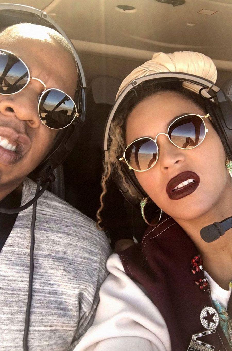 Beyoncé et Jay-Z font la grimace.