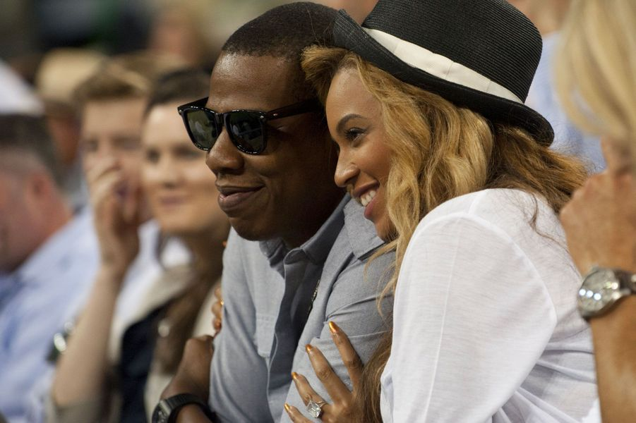Beyoncé et Jay-Z le 12 septembre 2011