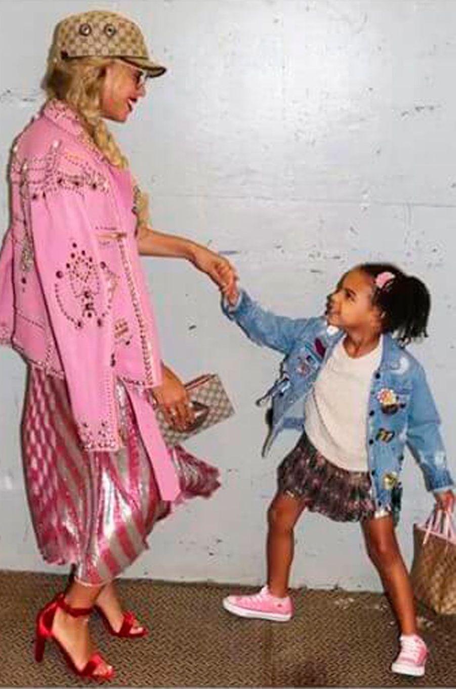 Beyoncé et sa fille Blue Ivy, âgée de cinq ans