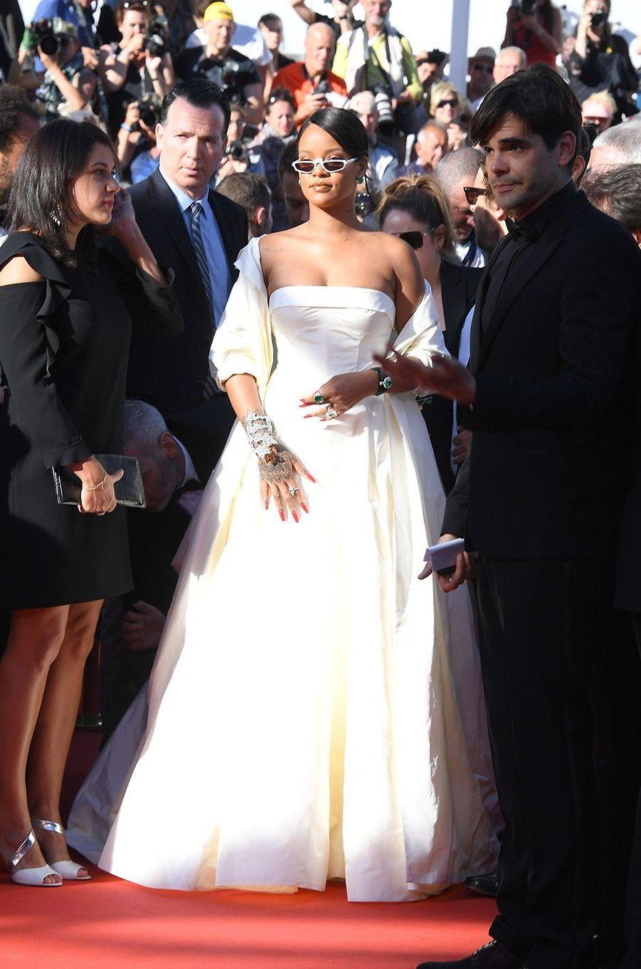 Rihanna a créé l'événement sur la Croisette, le 19 mai 2017.