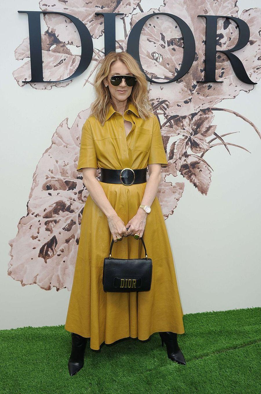 Céline Dion lors du défilé Christian Dior, le 3 juillet 2017.