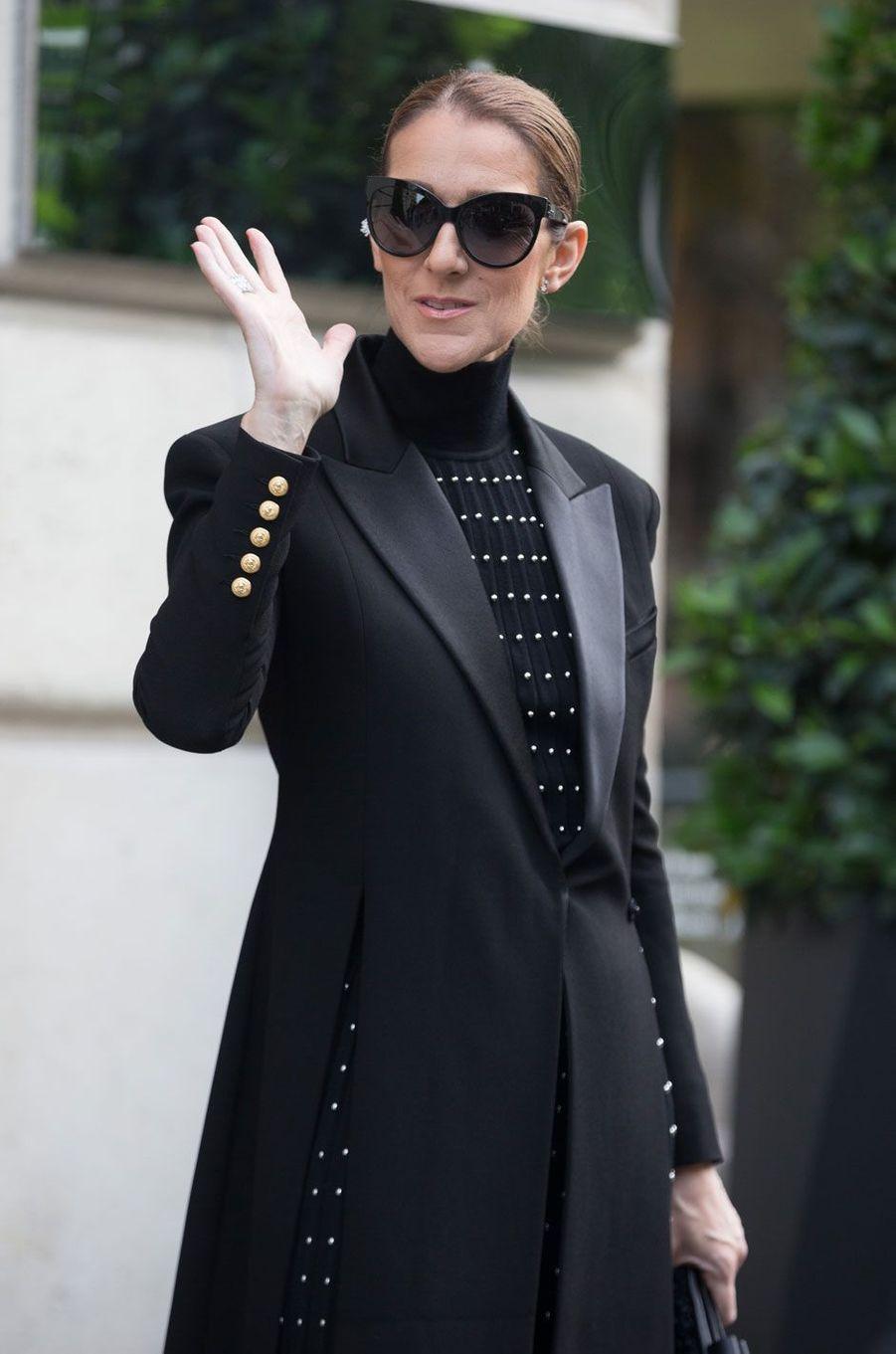 Céline Dion à Paris.