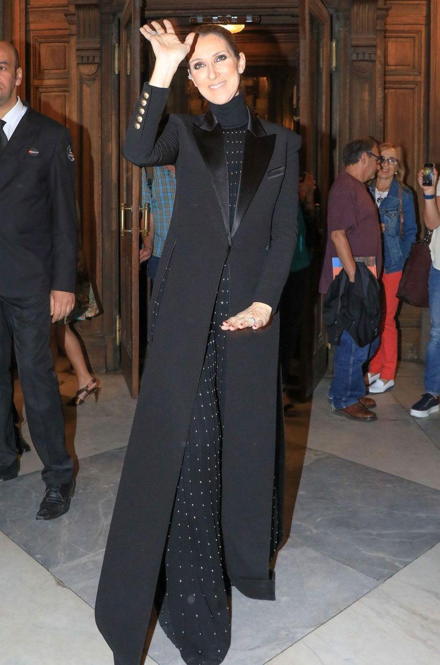 Céline Dion à l'Opéra Garnier.