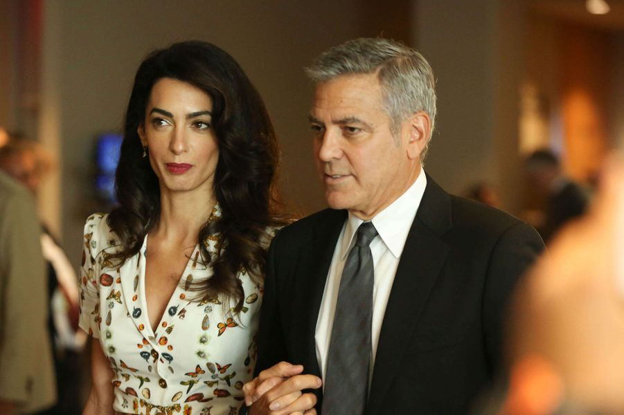 Amal Clooney (38) et George Clooney (55)