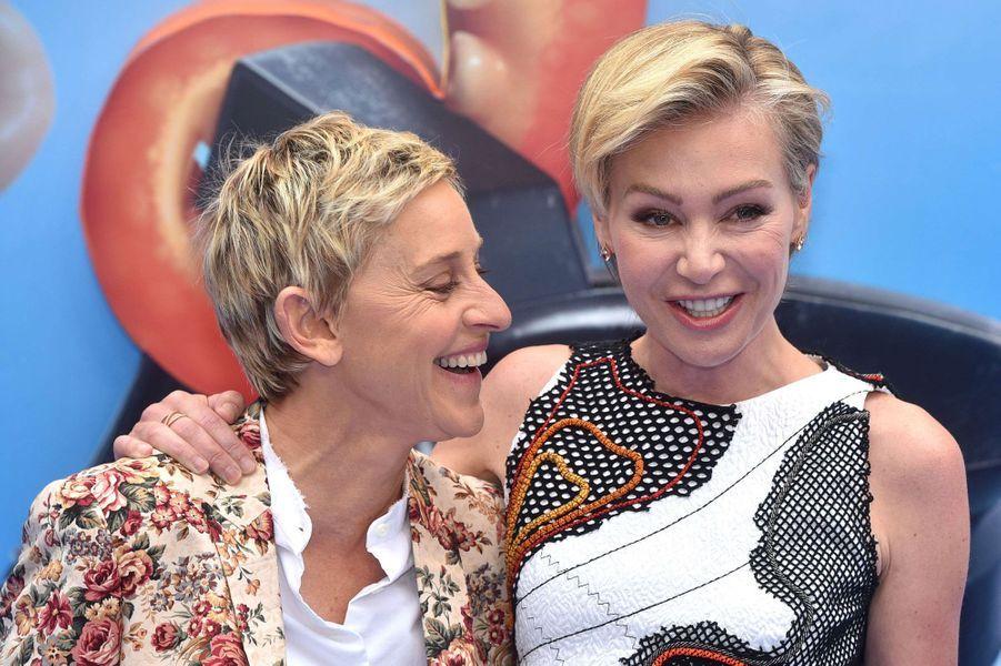 Ellen Degeneres (58) et Portia de Rossi (43)