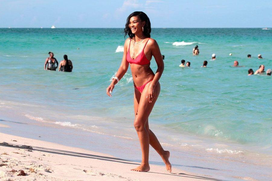 Chanel Iman en vacances à Miami