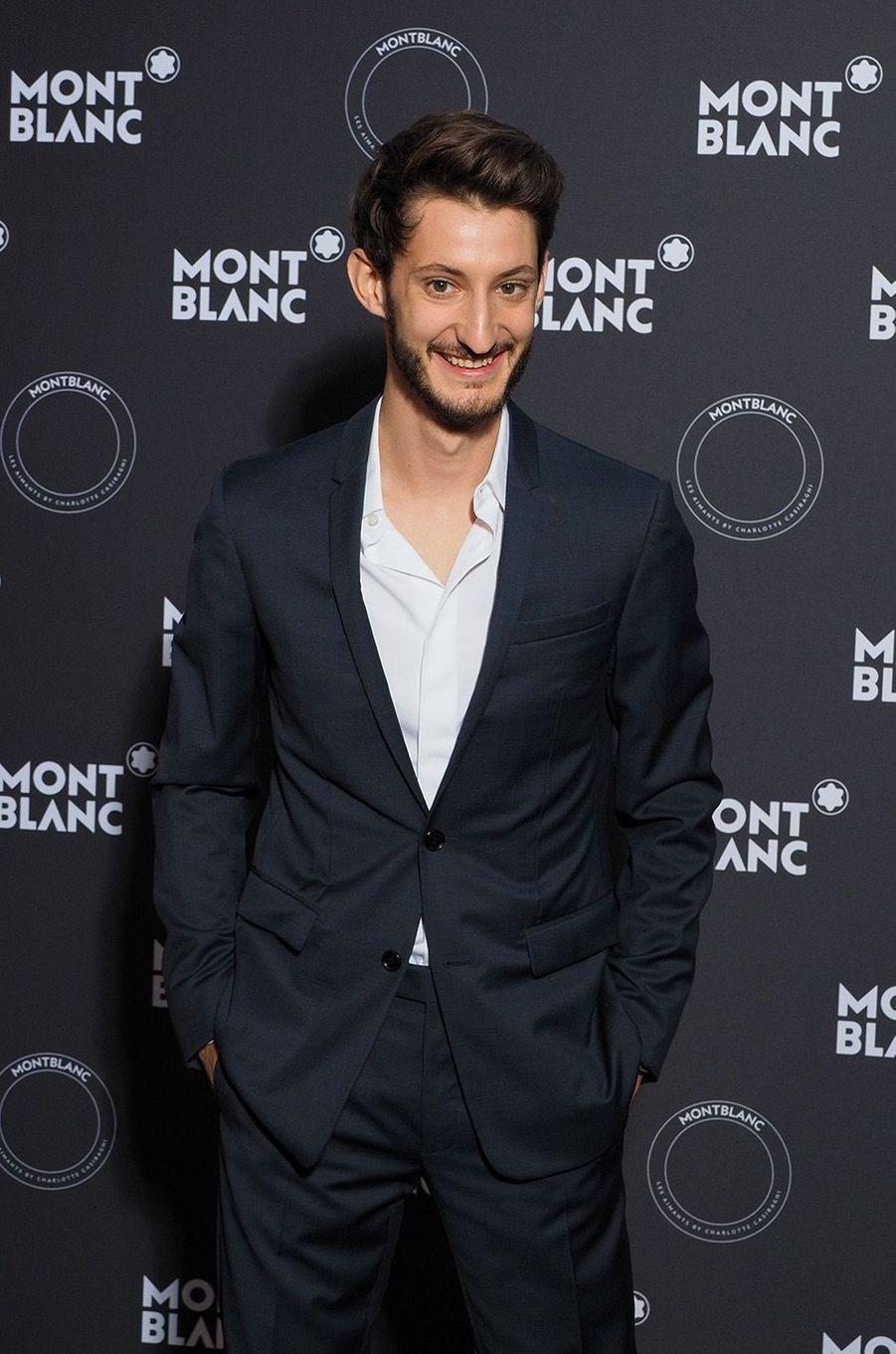 Pierre Niney à la soirée Montblanc à Cannes, le 16 mai 2018.