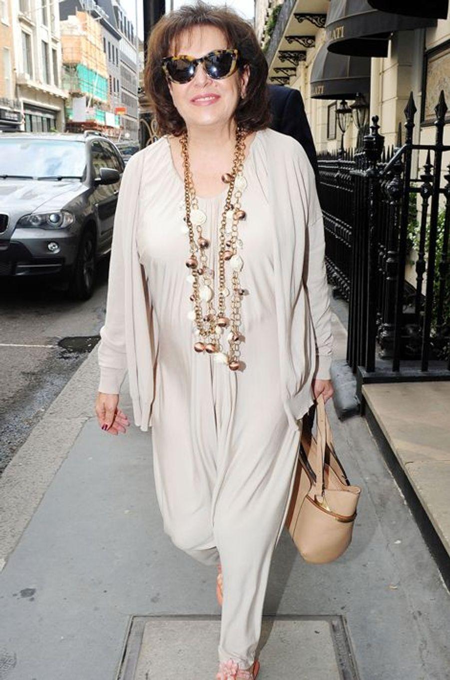 La mère d'Amal Alamuddin, la fiancée de George Clooney, dans les rues de Londres, le 4 septembre 2014.