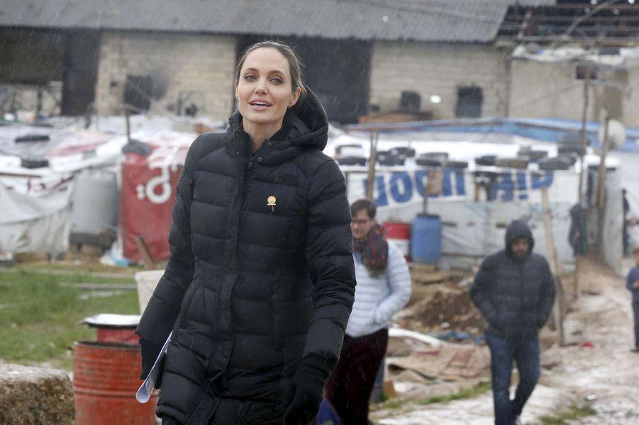 Angelina Jolie à Zahlé (Liban) le 15 mars 2016