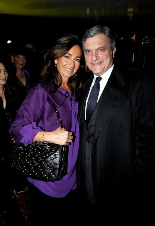 Incontournables Amis de Silvia Fendi, Katia et Sidney Toledano, P-DG de Dior Couture.