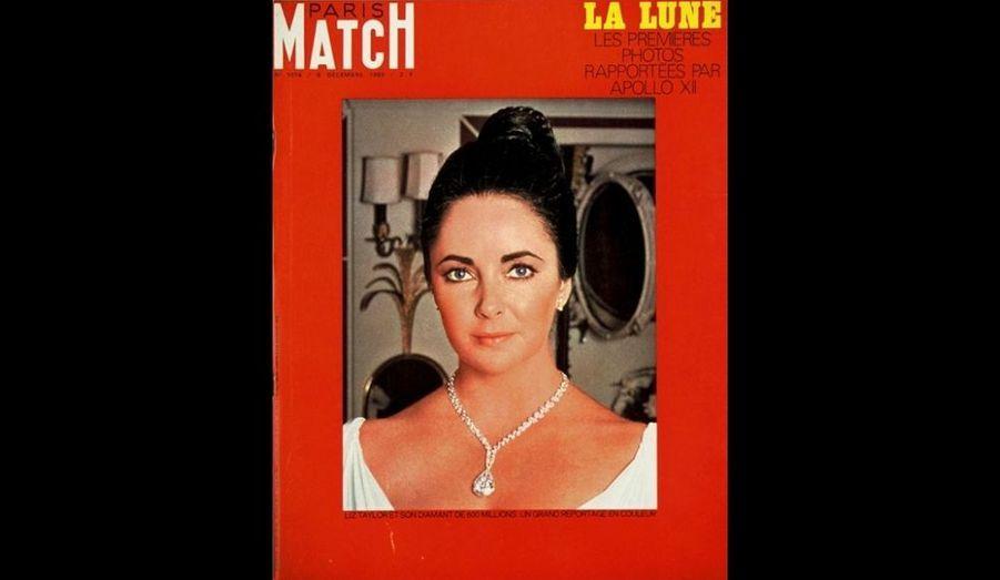 6 Décembre 1969. Liz Taylor et son diamant à 600 millions.