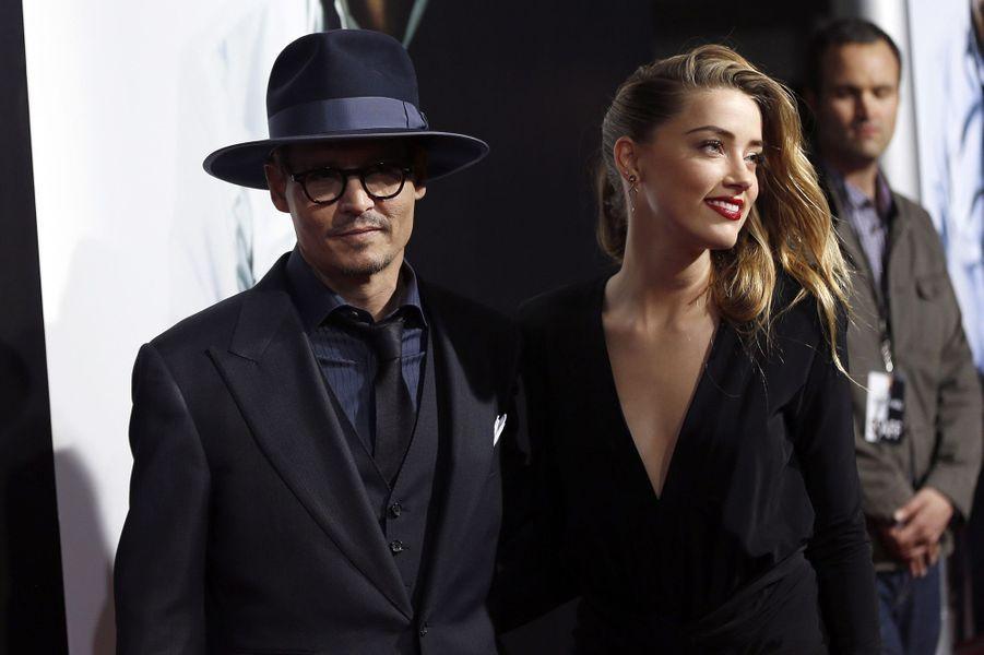 Amber Heard et Johnny Depp à Los Angeles, en février 2014
