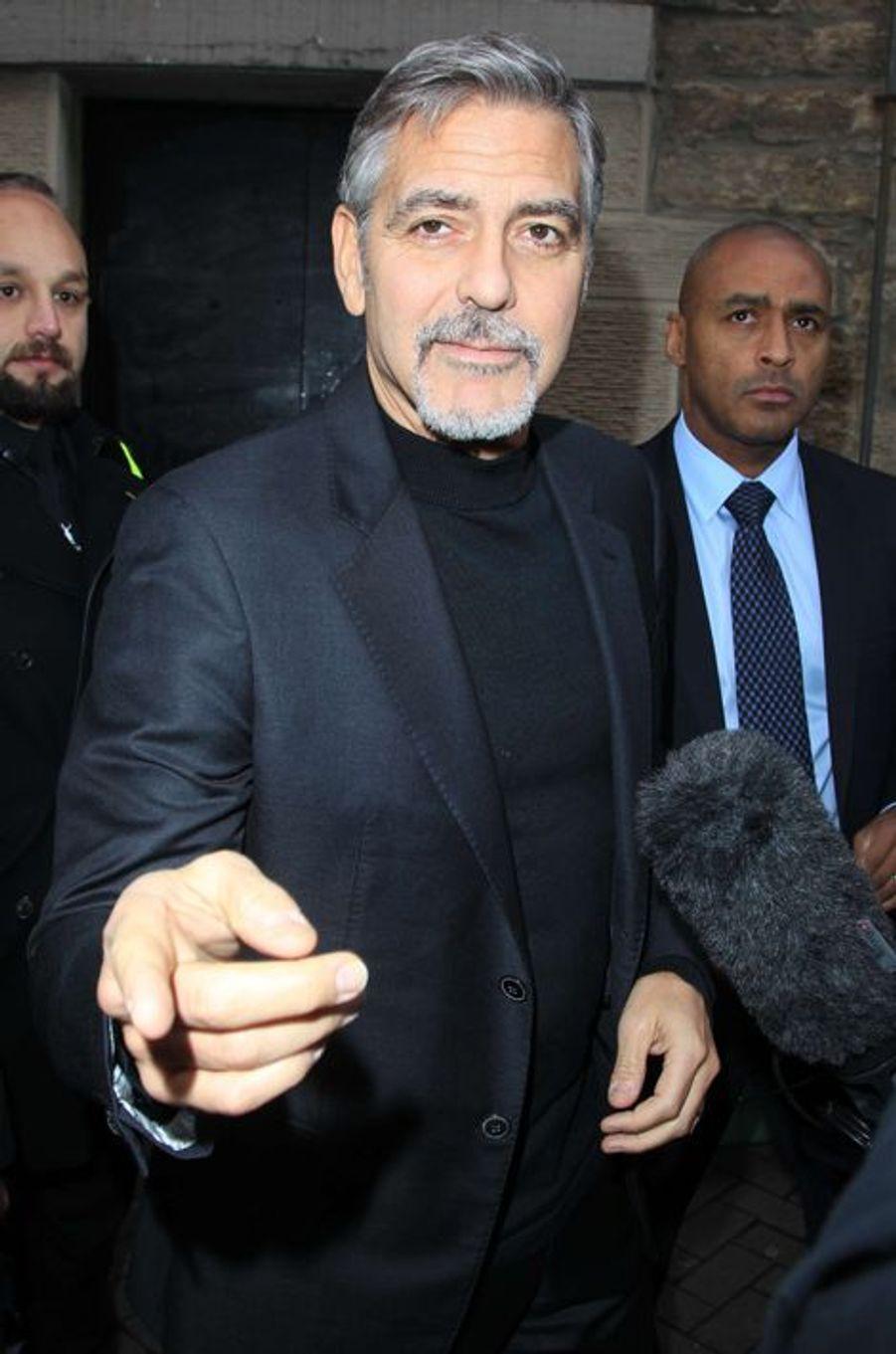 George Clooney à Edimbourg le 12 novembre 2015