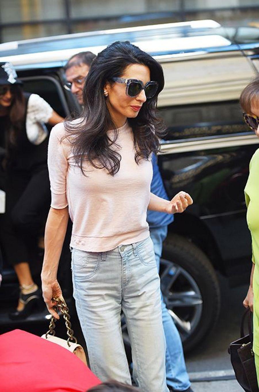Amal Clooney à New York le 2 mai 2015