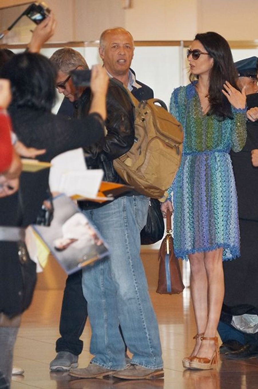 Amal et George Clooney à Tokyo le 24 mai 2015