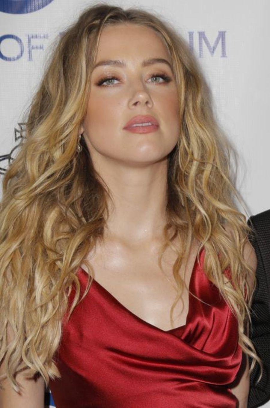Amber Heard au gala Heaven, à Los Angeles, le 9 janvier 2016