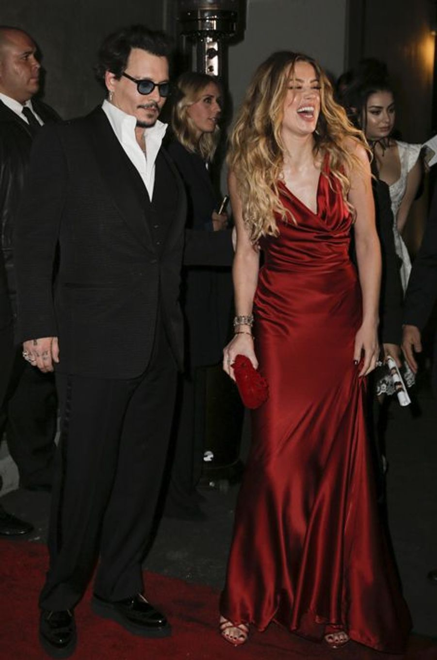 Amber Heard et Johnny Depp au gala Heaven, à Los Angeles, le 9 janvier 2016