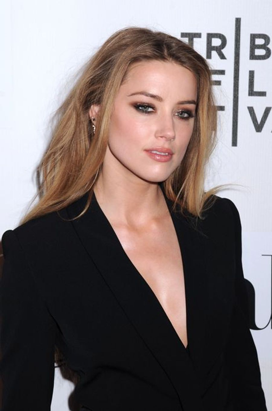 Amber Heard à New York le 16 avril 2015