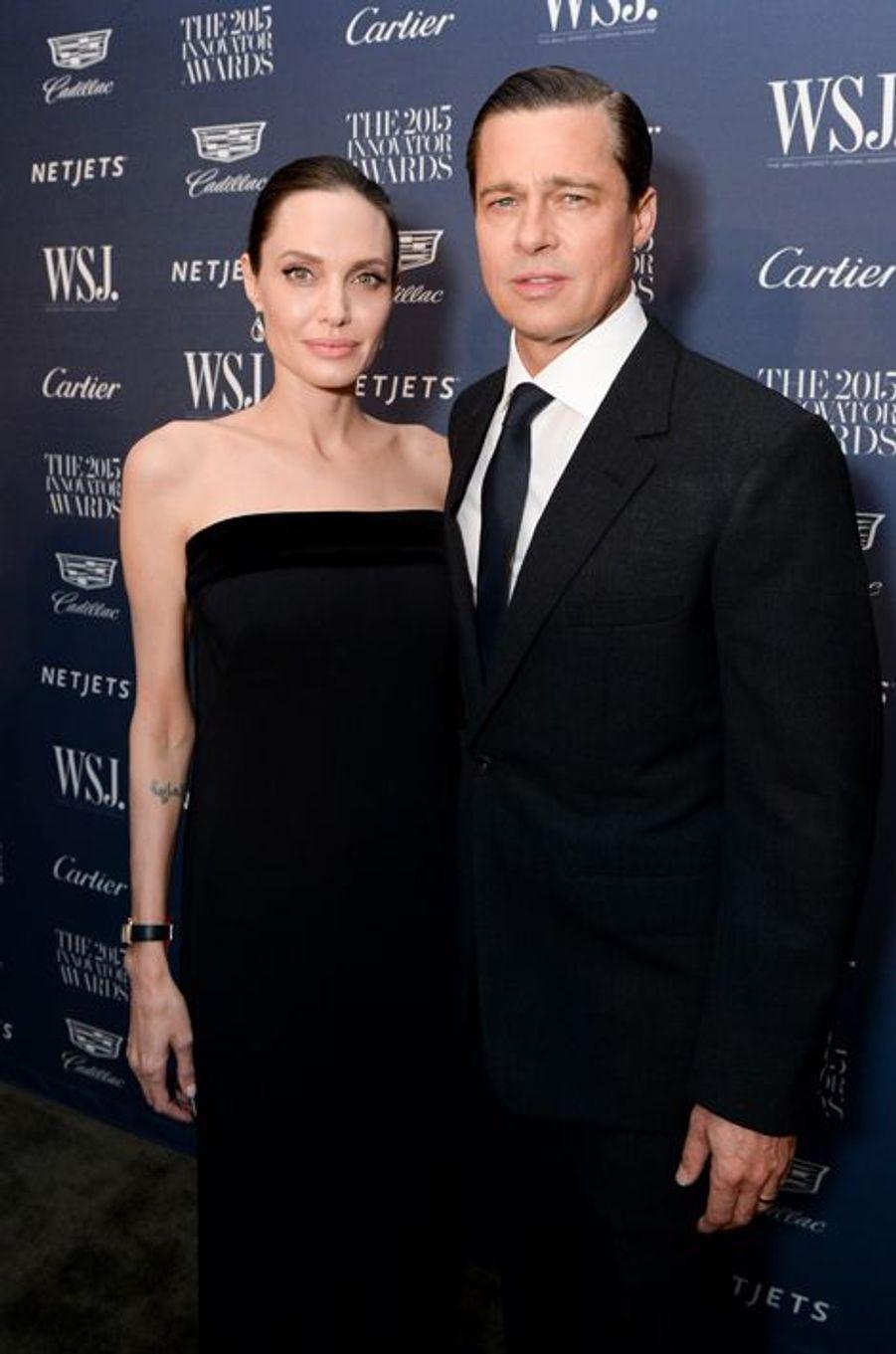 Angelina Jolie et Brad Pitt à New York le 4 novembre 2015