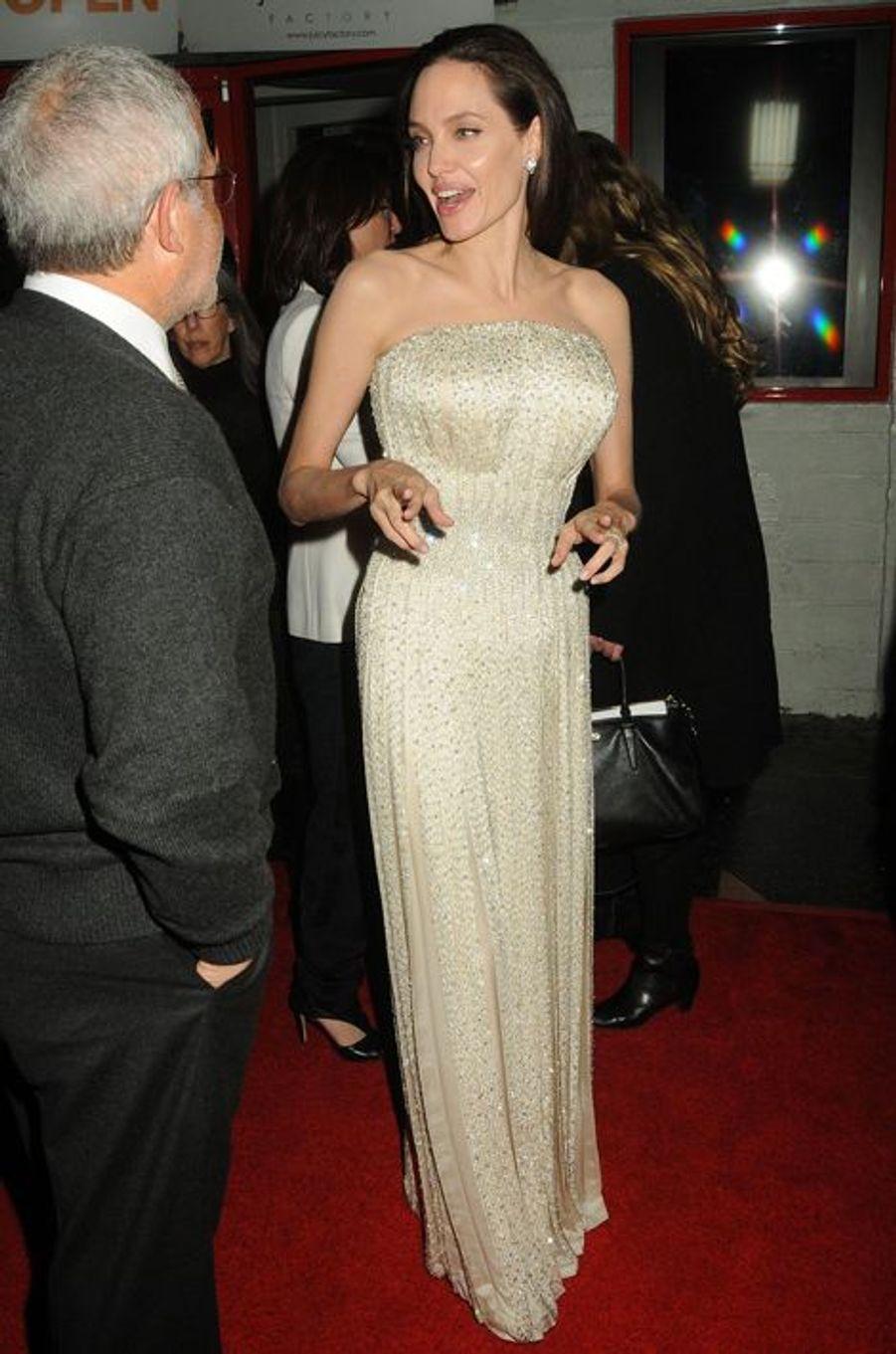 """Brad et Angelina à l'avant-première de """"Vue sur mer"""", à Hollywood, le 5 novembre 2015"""