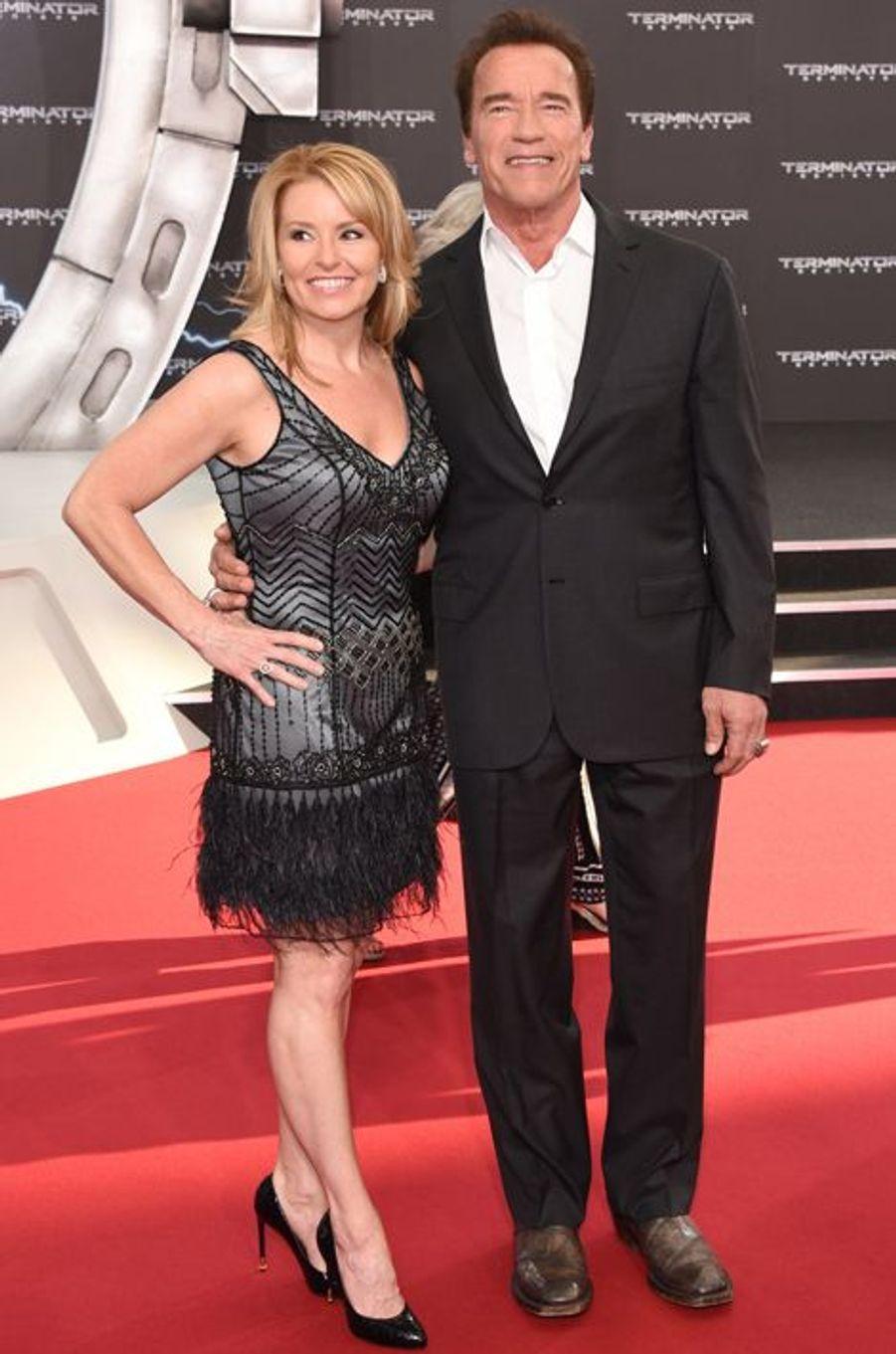 Heather Milligan et Arnold Schwarzenegger à Berlin le 21 juin 2015