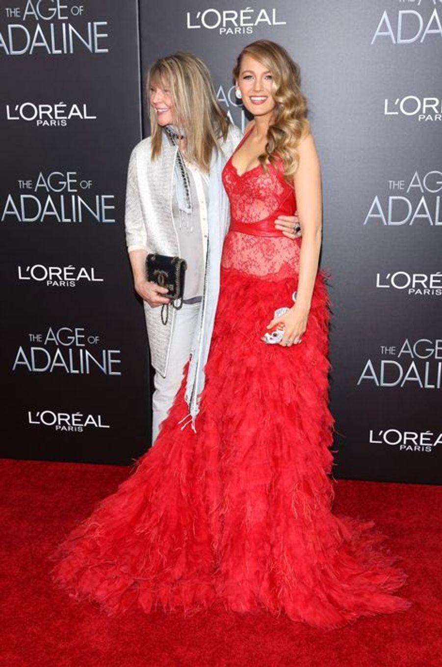 Blake Lively aux côtés de sa mère Elaine à New York le 19 avril 2015