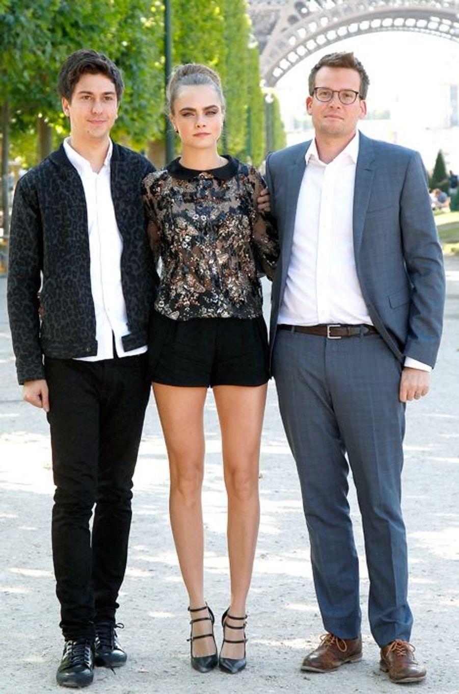 Nat Wolff, Cara Delevingne et John Green