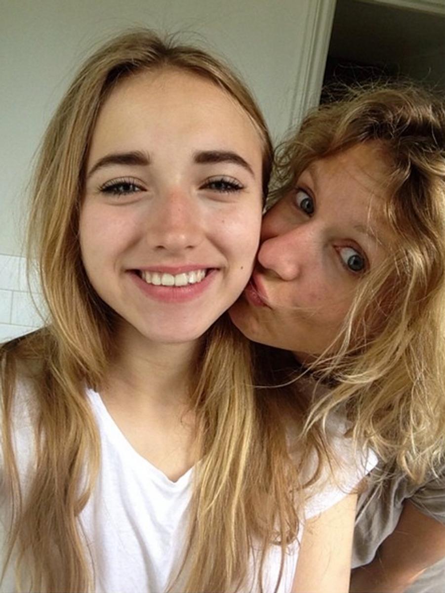 Avec sa mère, Alexandra Lamy