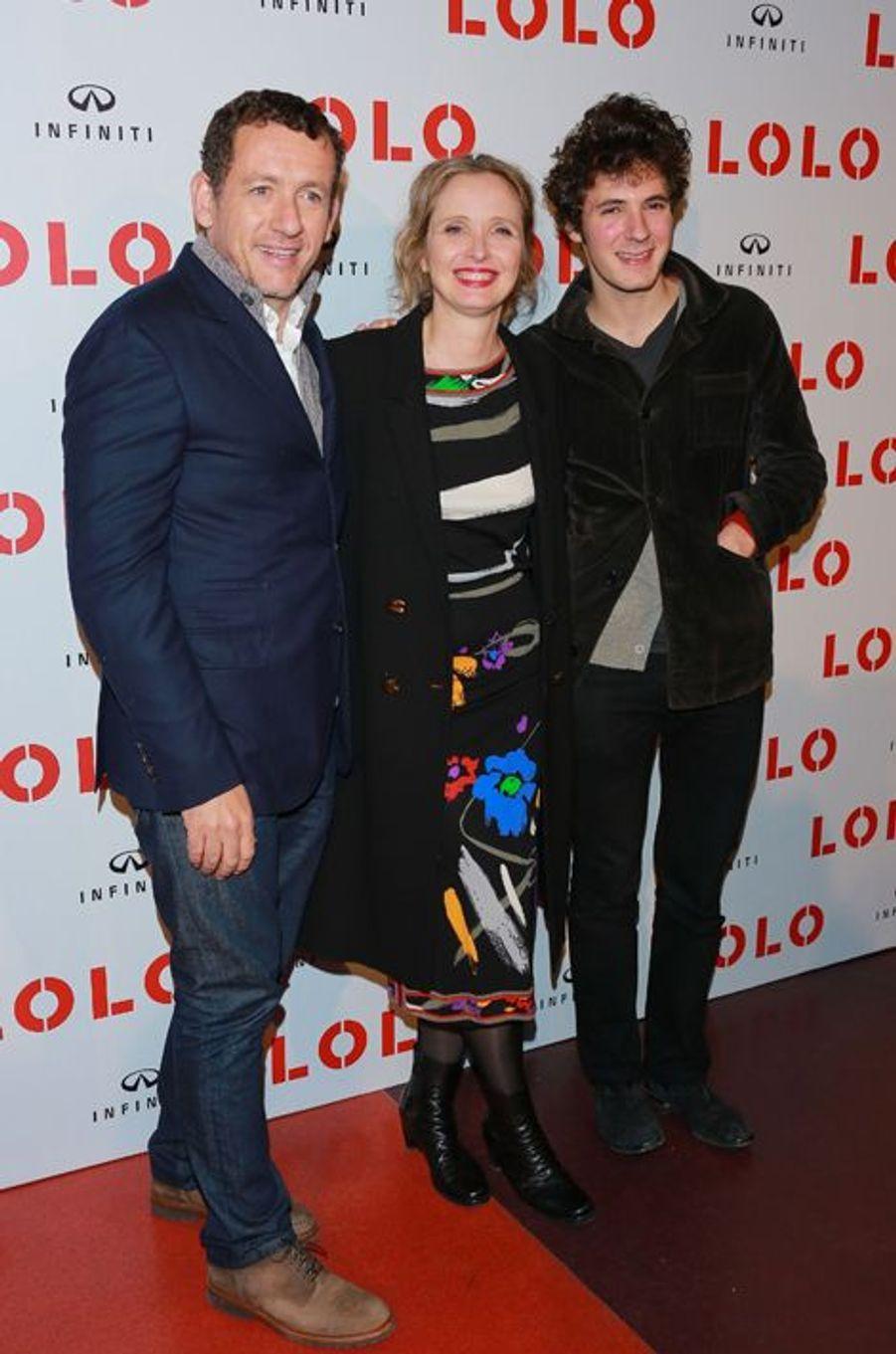 """Dany Boon, Julie Delpy et Vincent Lacoste à l'avant-première de """"Lolo"""", à Paris, le 19 octobre 2015"""